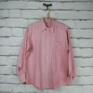 LL BEAN Collared Button Down Shirt Size 16.5